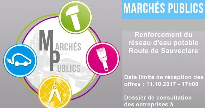 Renforcement du réseau d'eau potable Route de Sauveclare