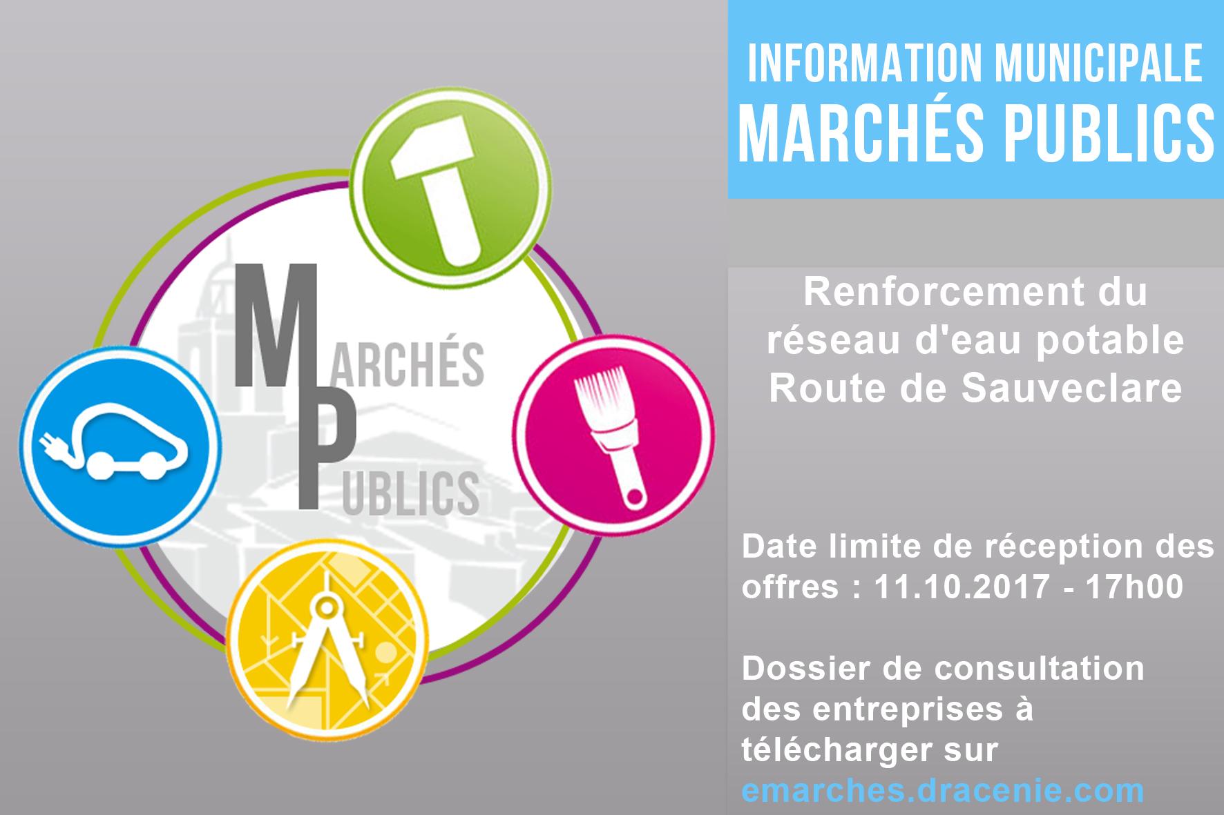 MAPA Renforcement du réseau d'eau potable Route de Sauveclare
