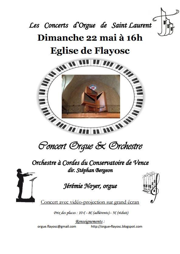 affiche concert orgue