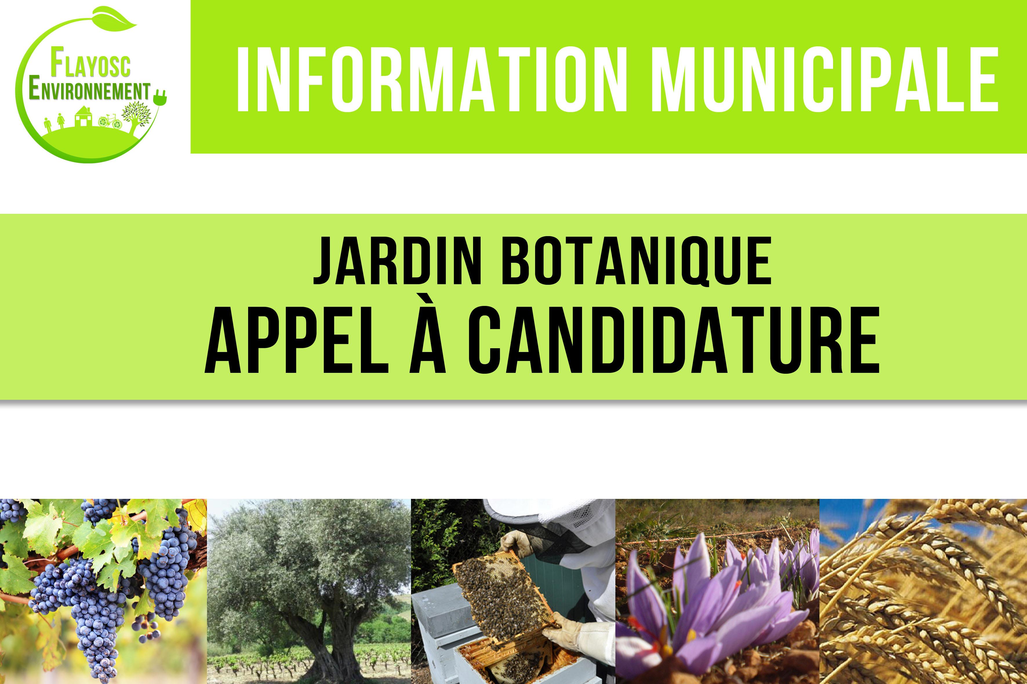 Appel candidature jardin botanique ville de flayosc for Jardin botanique noel 2015