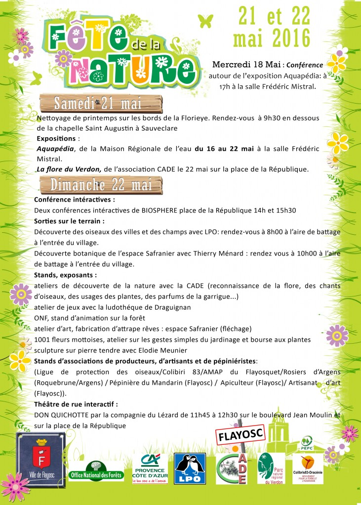 fête de la nature FLYER recto