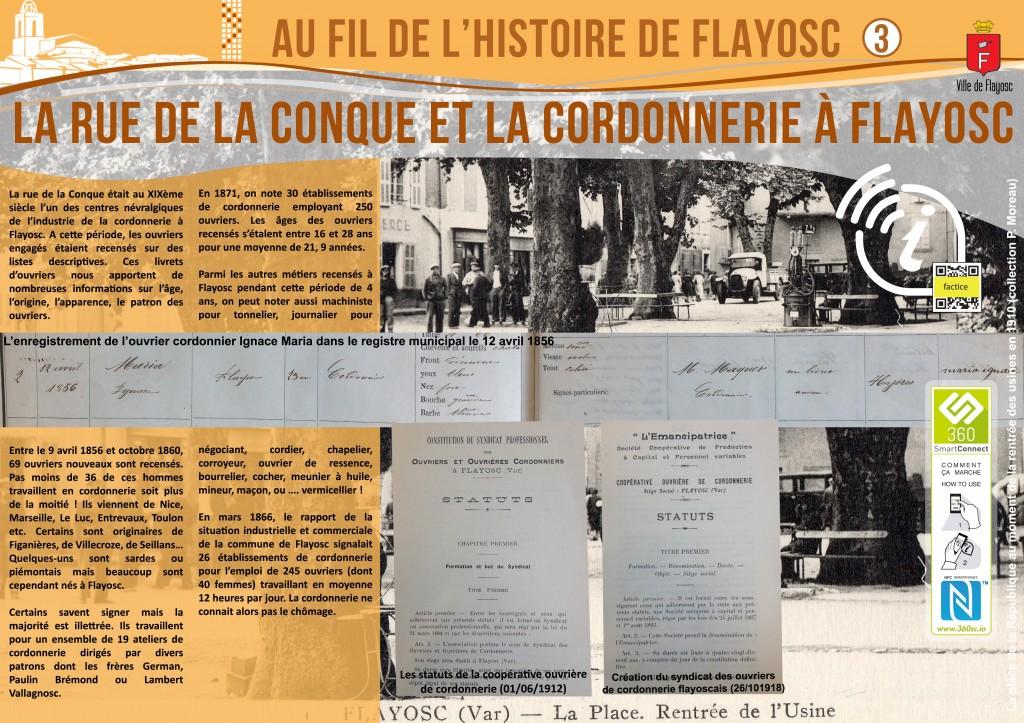 3 La rue de la conque et la cordonnerie à Flayosc