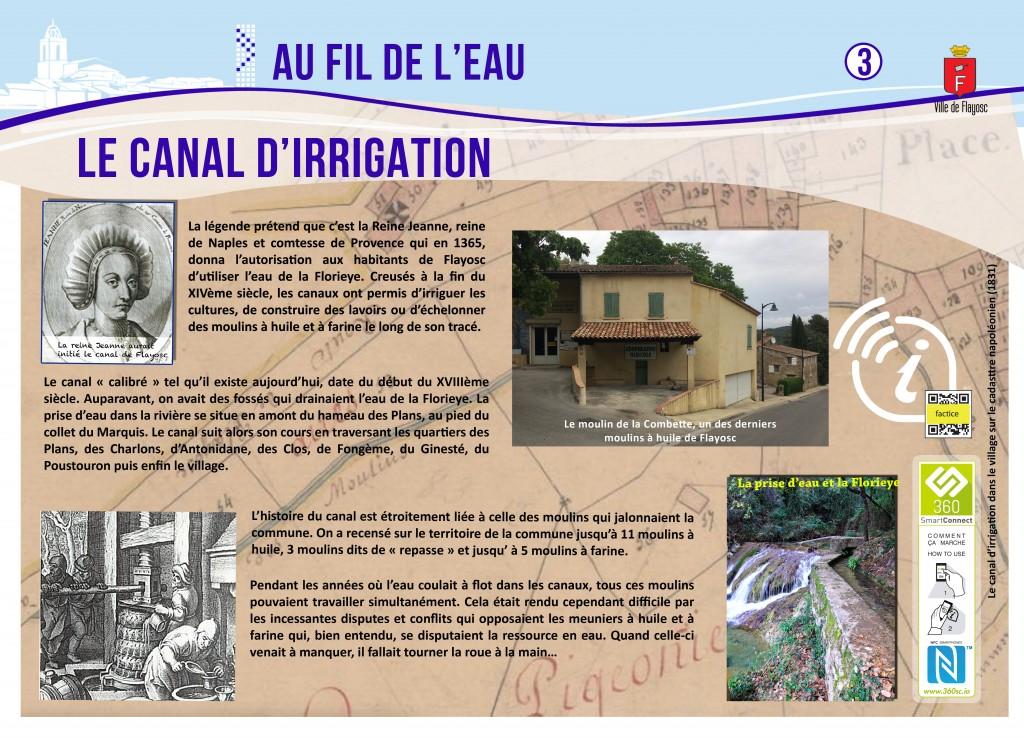 3 Le canal d'irrigation
