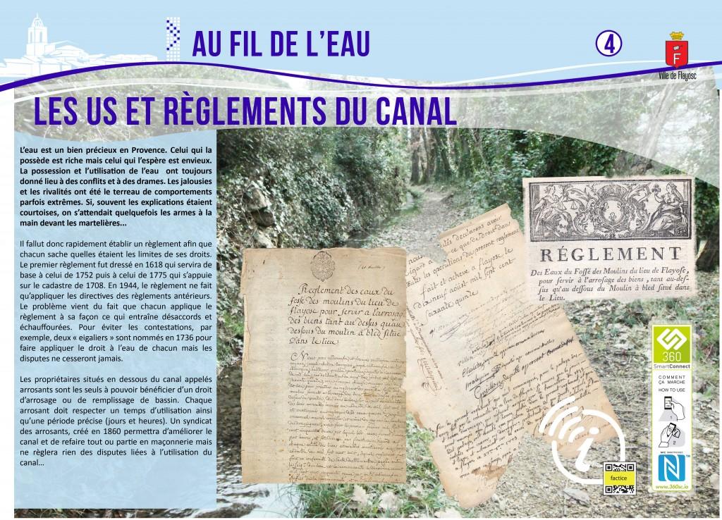 4 Les us et règlements du canal