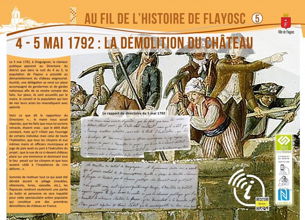 5 Démolition du chateau