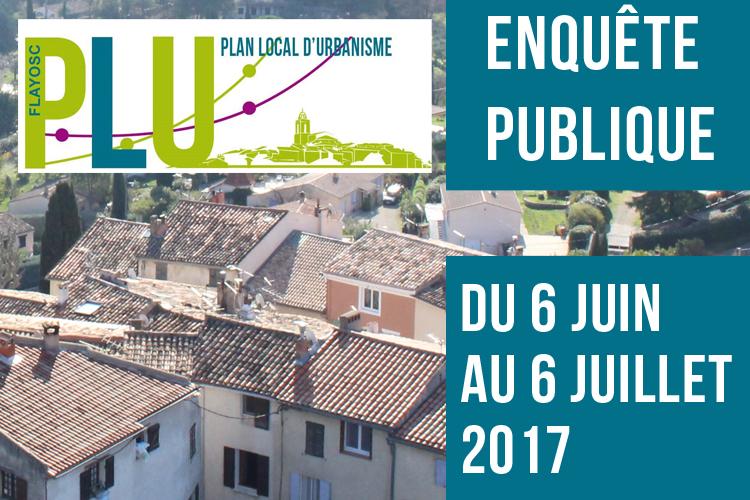 Plan Local d'Urbanisme : Enquête publique