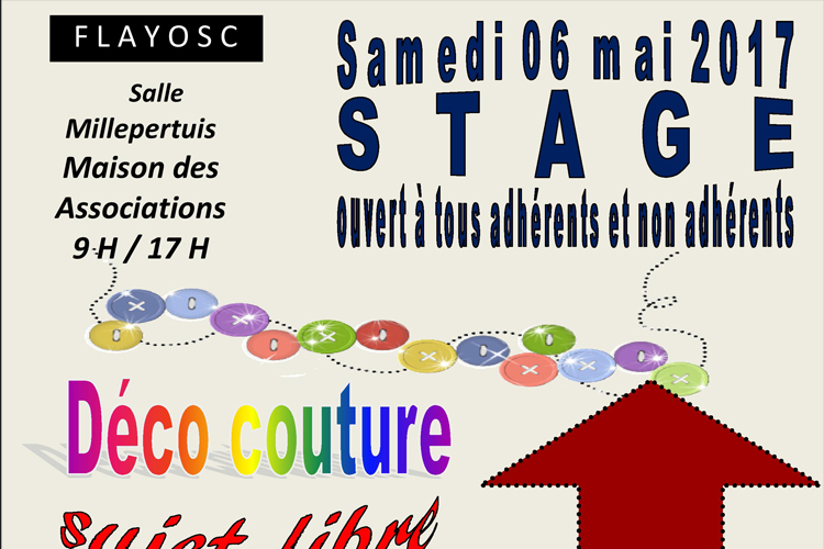 Stage déco couture BTAR