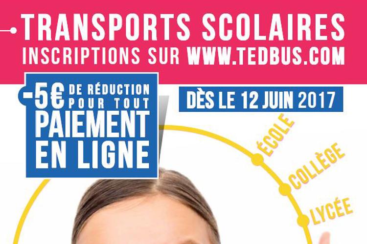 Transport scolaire : réinscription Pour l'année 2017-2018, c'est parti !