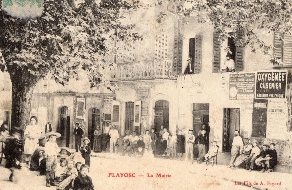 L'ANCIENNE MAIRIE DE FLAYOSC EN 1905