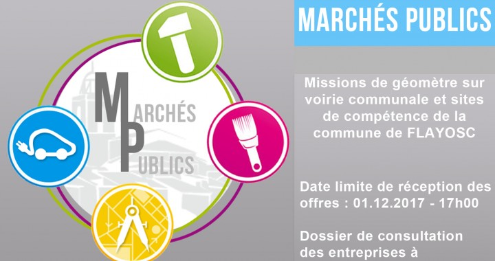Missions de géomètre sur voirie communale et sites de compétence de la commune de FLAYOSC
