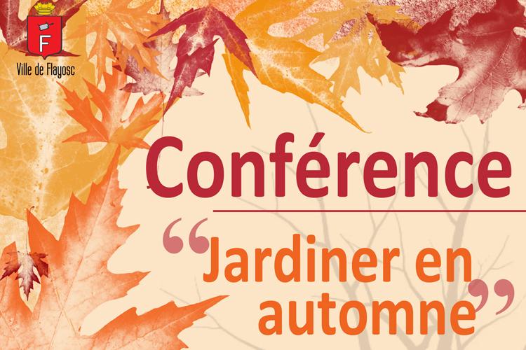 Conférence «Le jardinage à l'Automne»