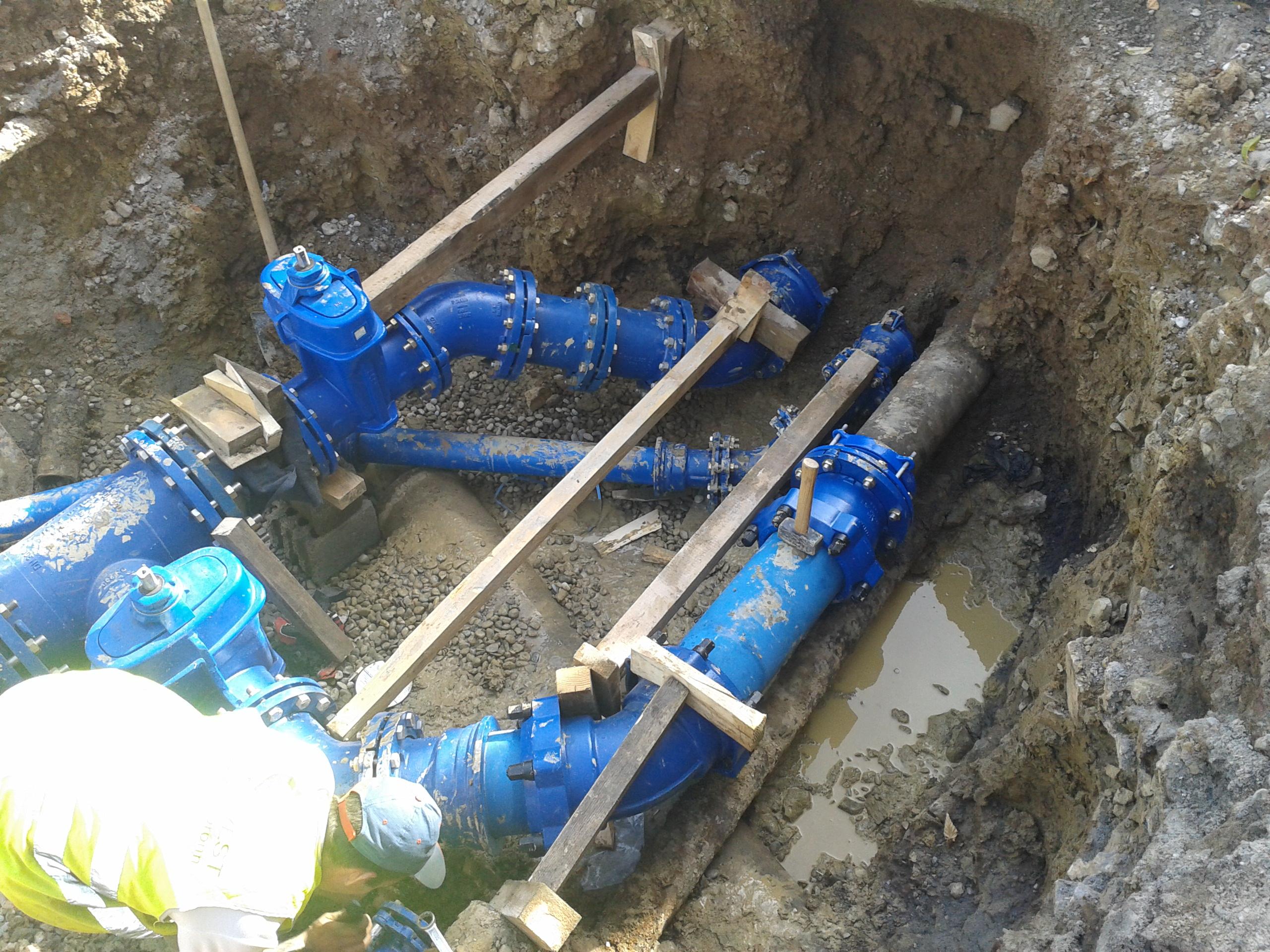Travaux sur le réseau d'eau potable