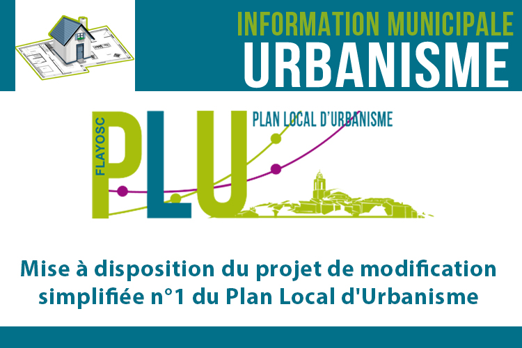 Mise à disposition du projet de modification simplifiée n°1 du Plan Local d'Urbanisme