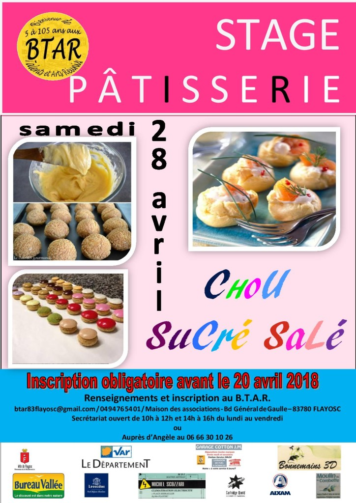 AFFICHE PATISSERIE 28 avril