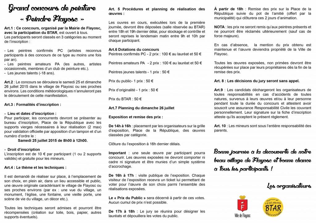 règlement concours p2 3 4