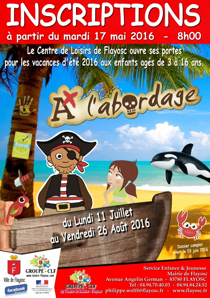 Affiche Vacances Avril 2016