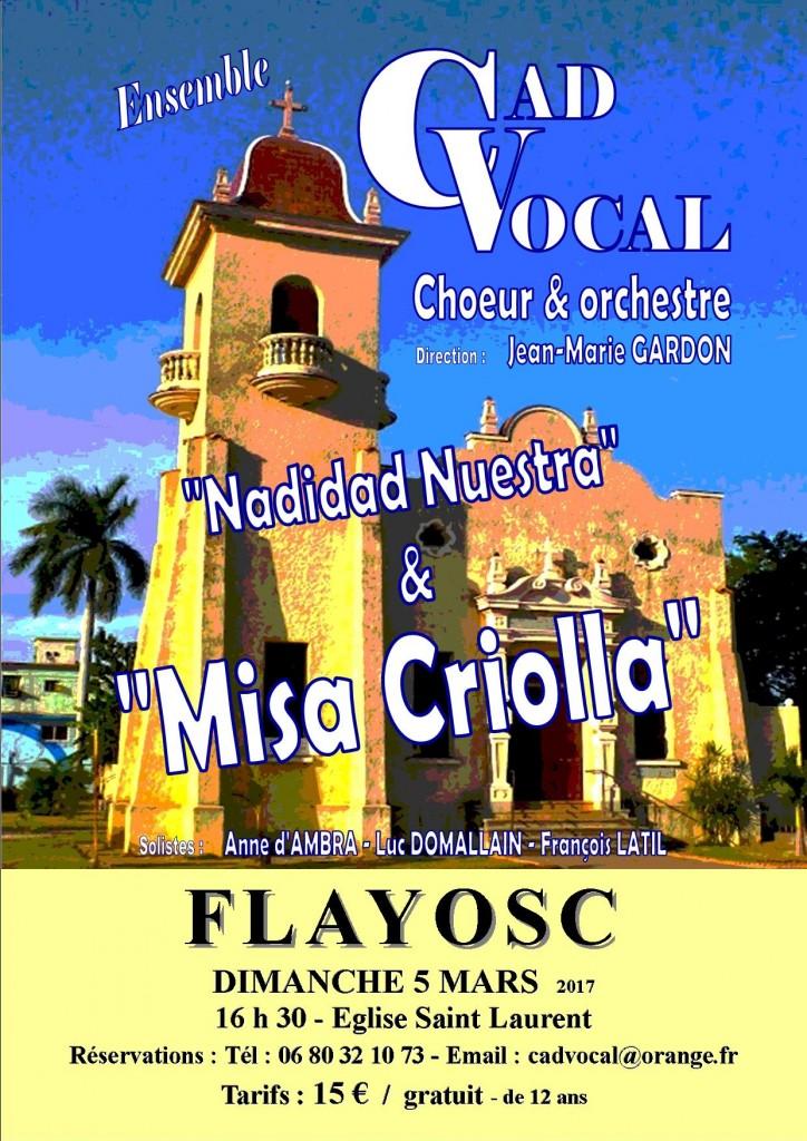 affiche navidad & Criolla FLAYOSC 2017