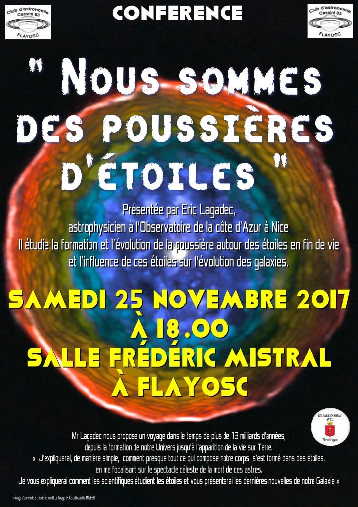 Conférence du 25 novembre CLUB CASSINI