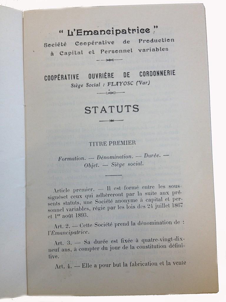 Cooperative ouvrière de la cordonnerie 161912