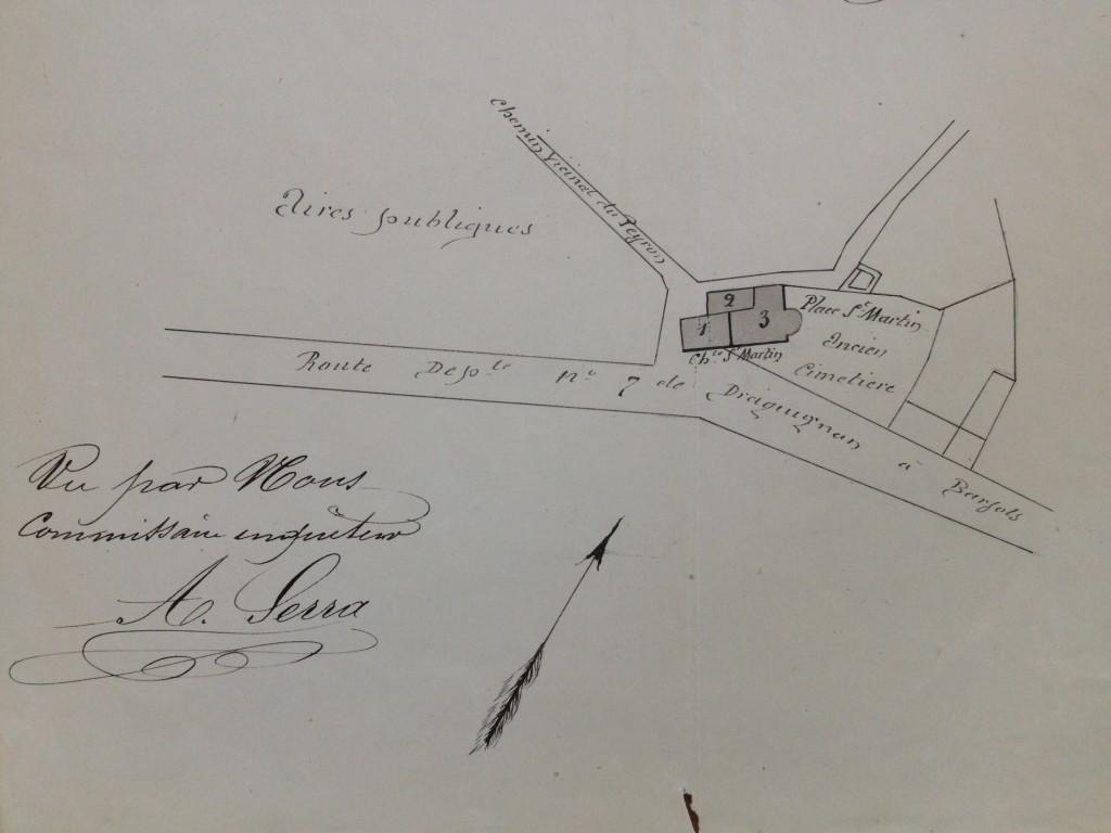 Le plan ancien plan de la place saint Martin
