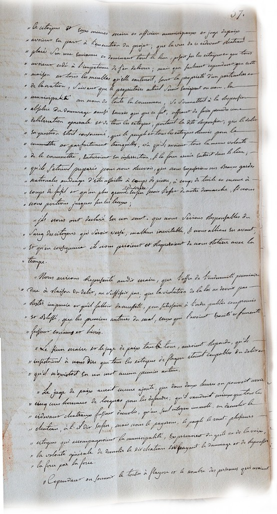 Procès verbal du directoire du district de draguignan page3(4 mai 1792)
