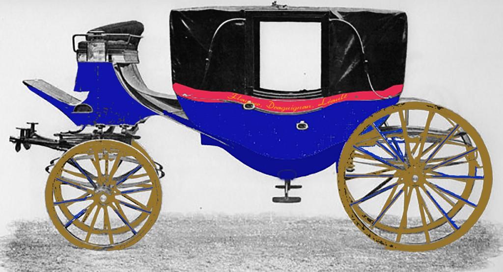 Reconstitution de la voiture de Léandre Léaud en 1874
