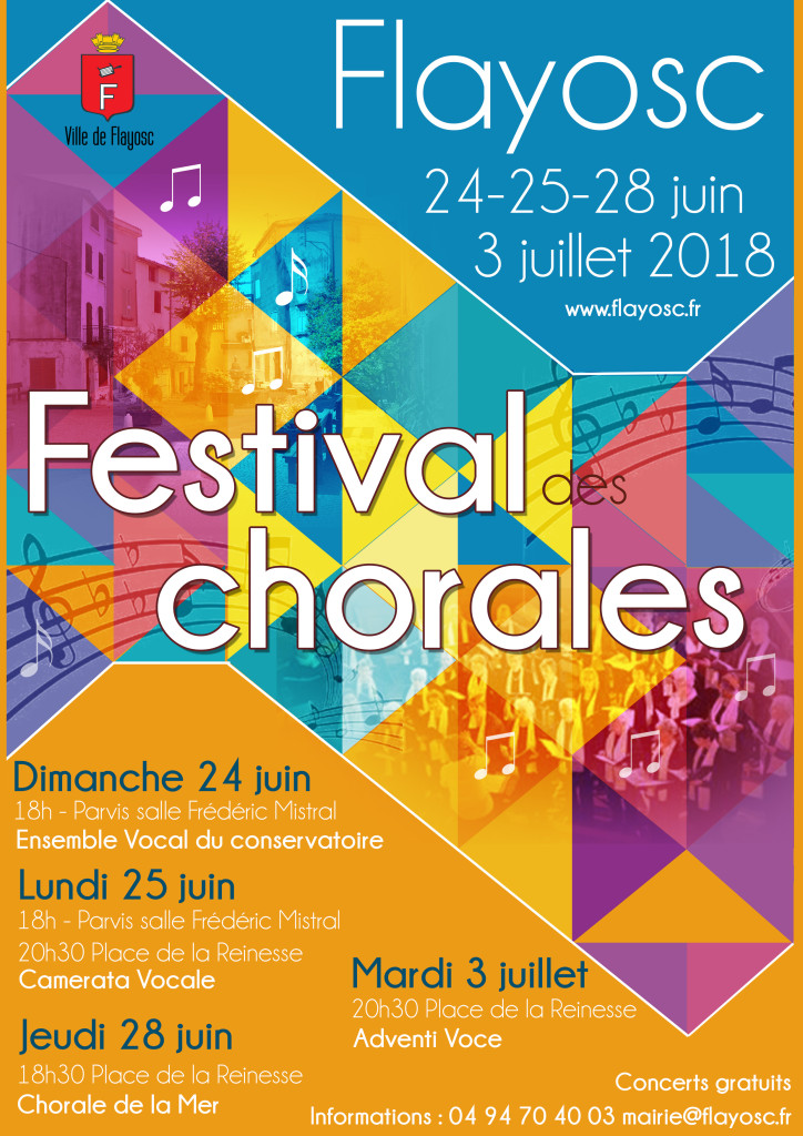 affiche festival chorale