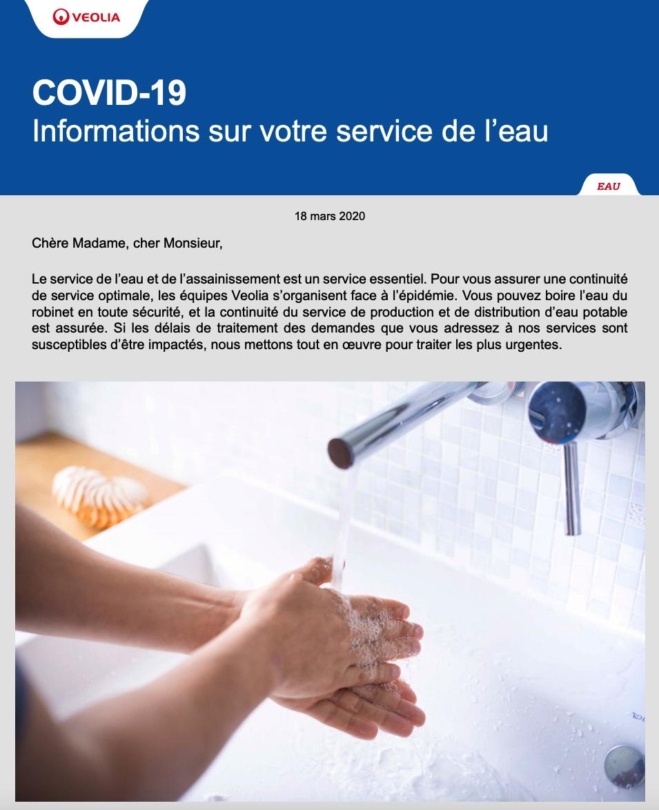 PAS de contamination de l'eau potable